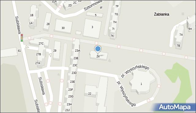 Gdańsk, Subisława, 24, mapa Gdańska