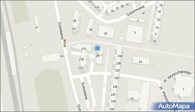 Gdańsk, Subisława, 29, mapa Gdańska