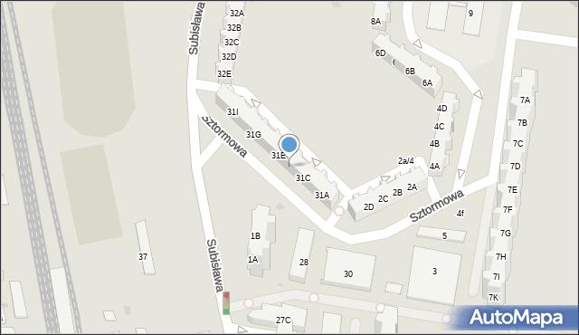 Gdańsk, Subisława, 31D, mapa Gdańska