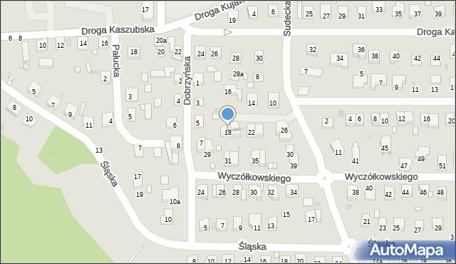 Grudziądz, Sudecka, 18, mapa Grudziądza