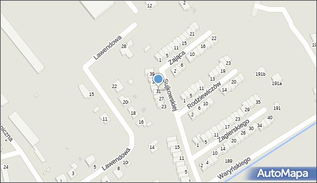 Grudziądz, Sujkowskiej S., dr., 31, mapa Grudziądza