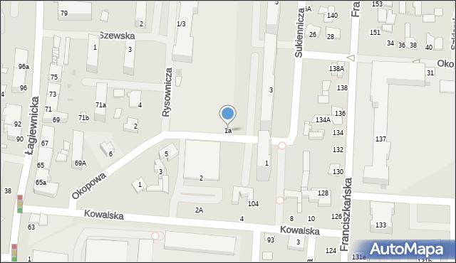 Łódź, Sukiennicza, 1a, mapa Łodzi