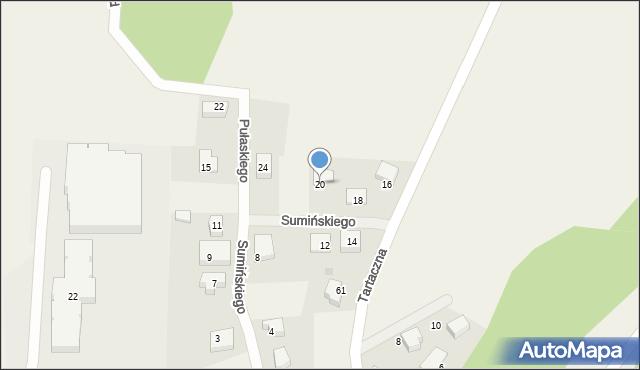 Luzino, Sumińskiego, ks., 20, mapa Luzino