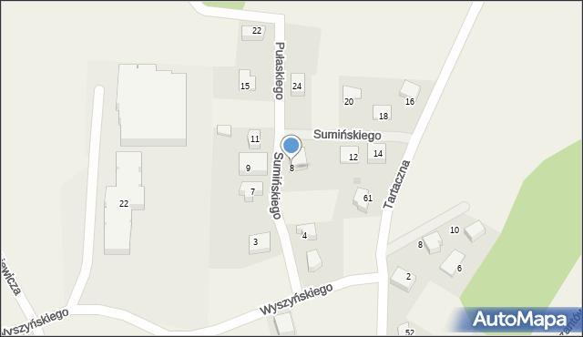 Luzino, Sumińskiego, ks., 8, mapa Luzino