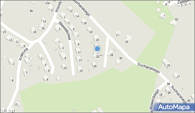 Przemyśl, Sucharskiego Henryka, mjr., 24, mapa Przemyśla