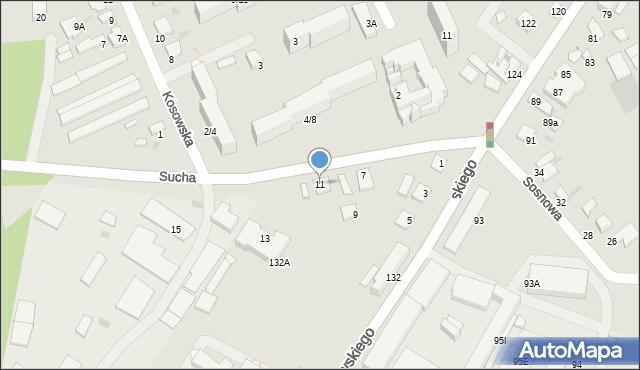 Radom, Sucha, 11, mapa Radomia