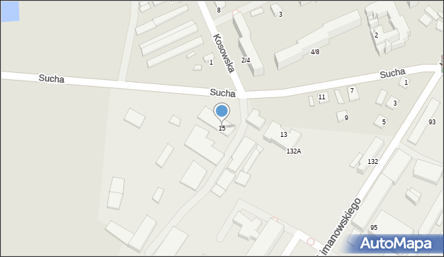 Radom, Sucha, 15, mapa Radomia