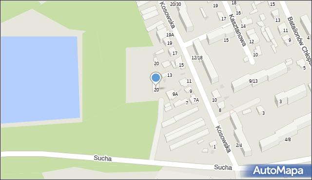 Radom, Sucha, 20, mapa Radomia