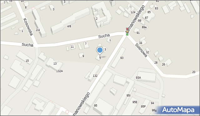 Radom, Sucha, 5, mapa Radomia