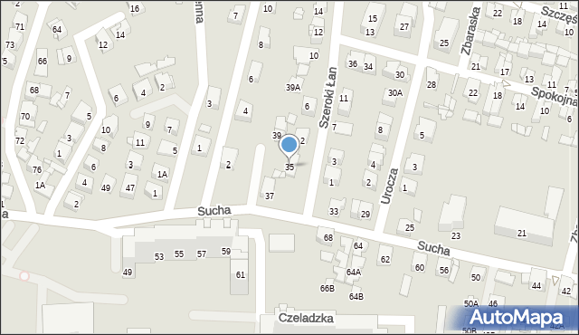 Sosnowiec, Sucha, 35, mapa Sosnowca