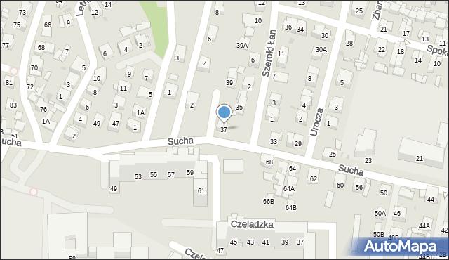 Sosnowiec, Sucha, 37, mapa Sosnowca