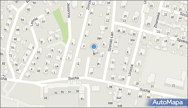 Sosnowiec, Sucha, 39, mapa Sosnowca