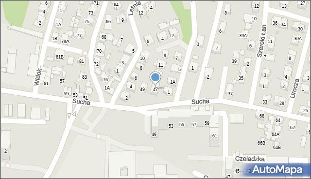 Sosnowiec, Sucha, 47, mapa Sosnowca