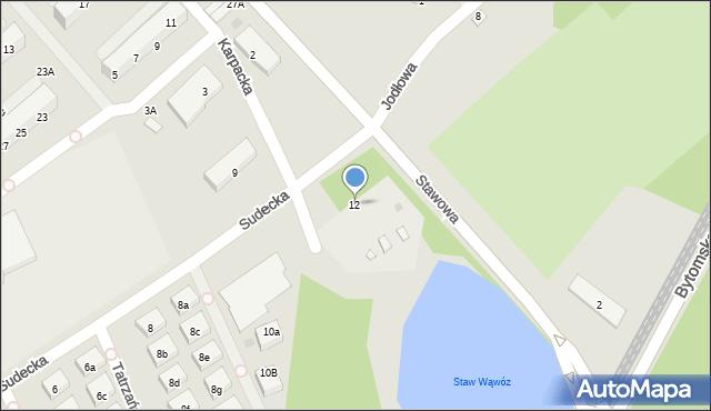 Świętochłowice, Sudecka, 12, mapa Świętochłowice