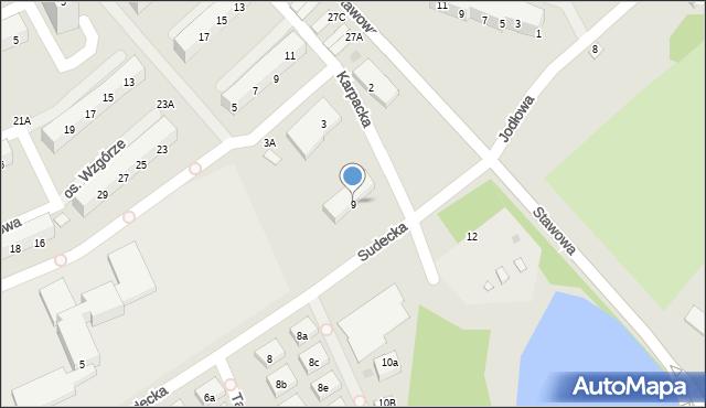 Świętochłowice, Sudecka, 9, mapa Świętochłowice