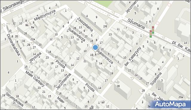 Toruń, Sukiennicza, 5, mapa Torunia