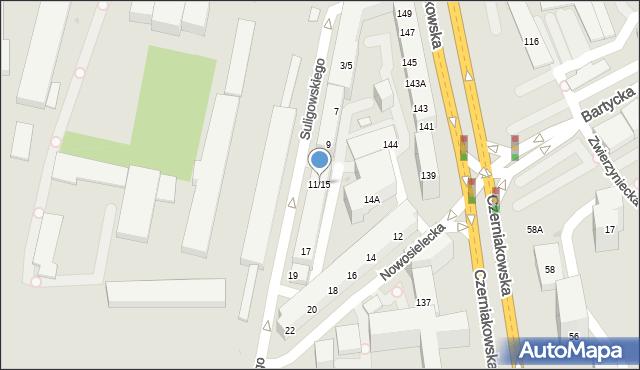 Warszawa, Suligowskiego Adolfa, 11/15, mapa Warszawy