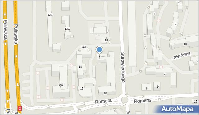 Warszawa, Surowieckiego Wawrzyńca, 3, mapa Warszawy