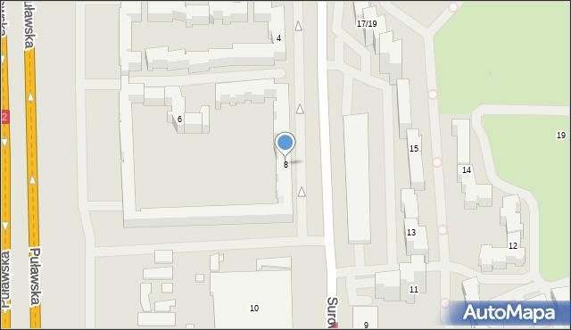 Warszawa, Surowieckiego Wawrzyńca, 8, mapa Warszawy