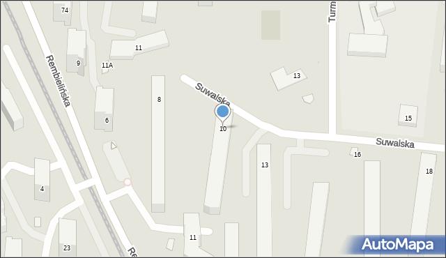 Warszawa, Suwalska, 10, mapa Warszawy