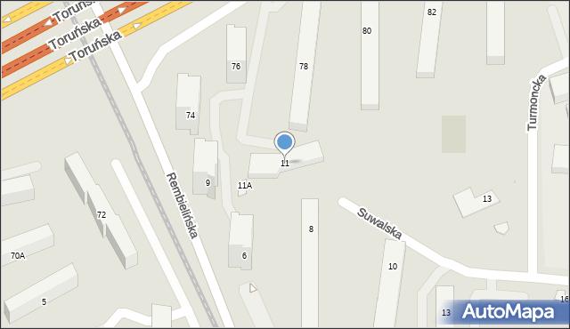 Warszawa, Suwalska, 11, mapa Warszawy