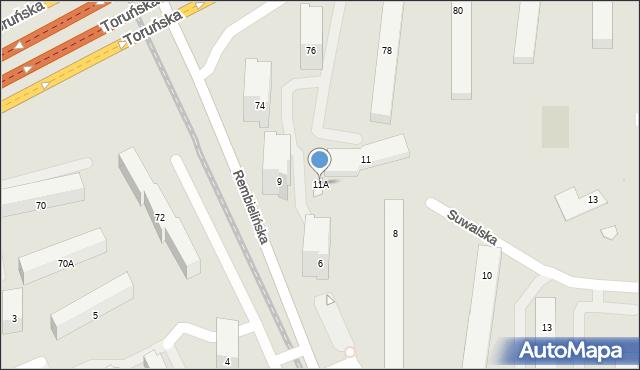 Warszawa, Suwalska, 11A, mapa Warszawy