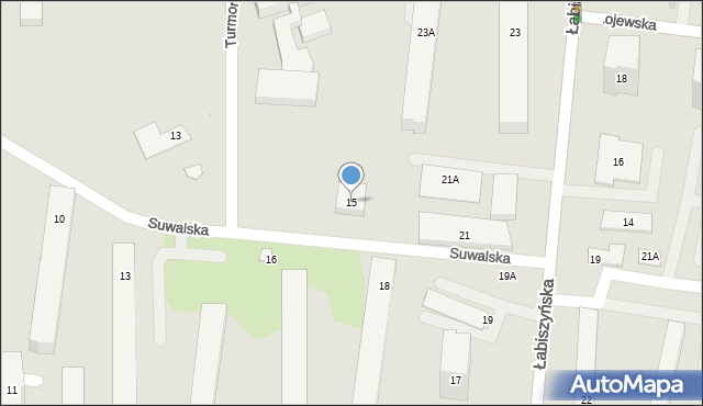 Warszawa, Suwalska, 15, mapa Warszawy