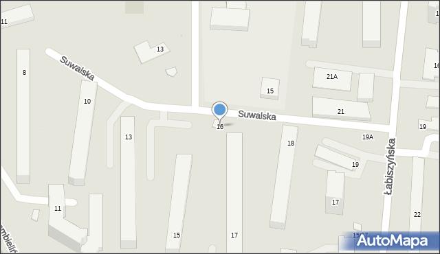 Warszawa, Suwalska, 16, mapa Warszawy