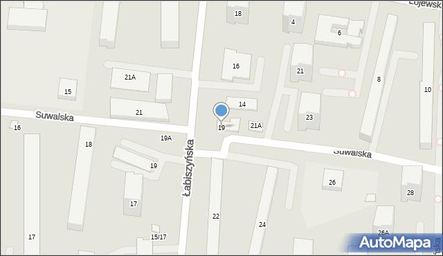 Warszawa, Suwalska, 19, mapa Warszawy