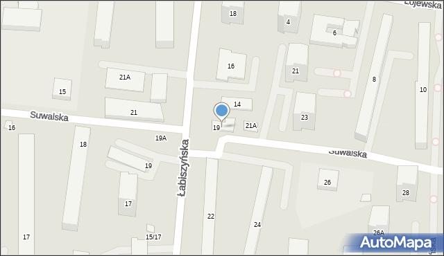 Warszawa, Suwalska, 19a, mapa Warszawy