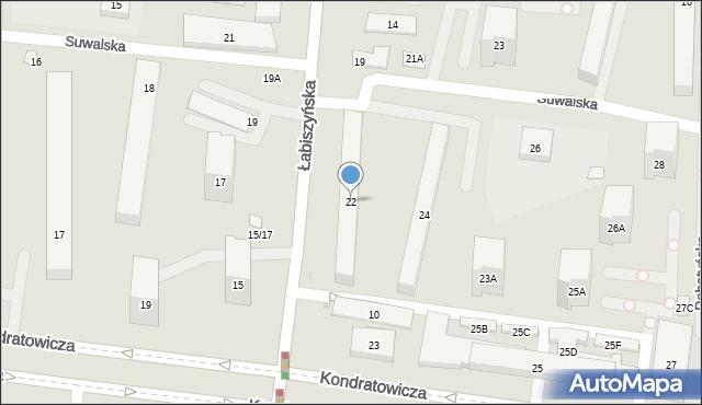 Warszawa, Suwalska, 22, mapa Warszawy