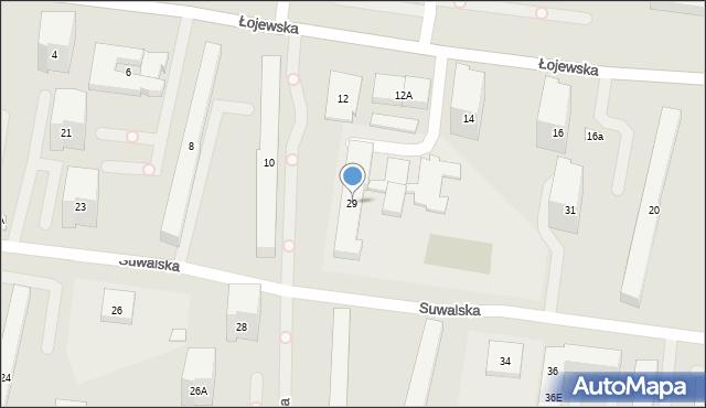 Warszawa, Suwalska, 29, mapa Warszawy
