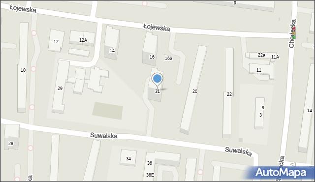 Warszawa, Suwalska, 31, mapa Warszawy