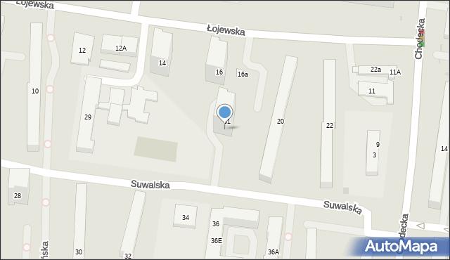 Warszawa, Suwalska, 31m, mapa Warszawy