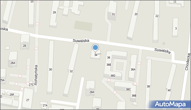 Warszawa, Suwalska, 34, mapa Warszawy