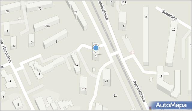 Warszawa, Suwalska, 4, mapa Warszawy