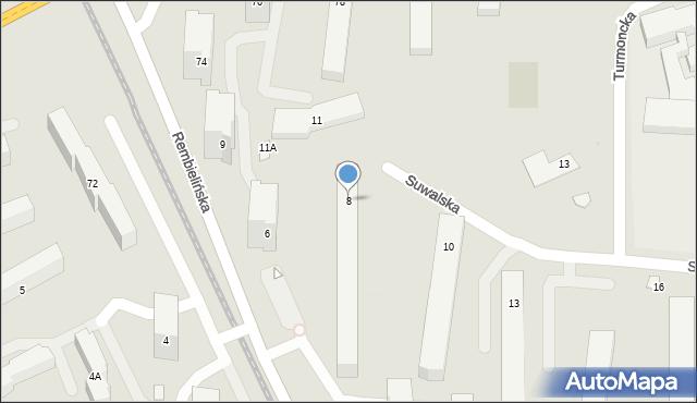 Warszawa, Suwalska, 8, mapa Warszawy