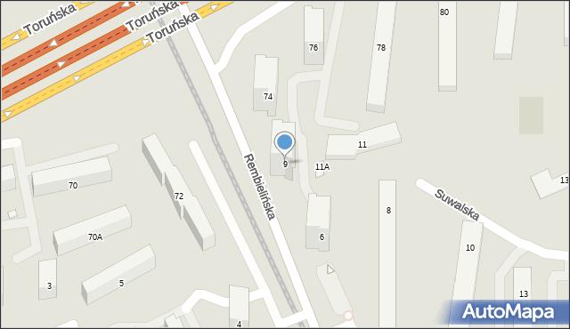 Warszawa, Suwalska, 9, mapa Warszawy