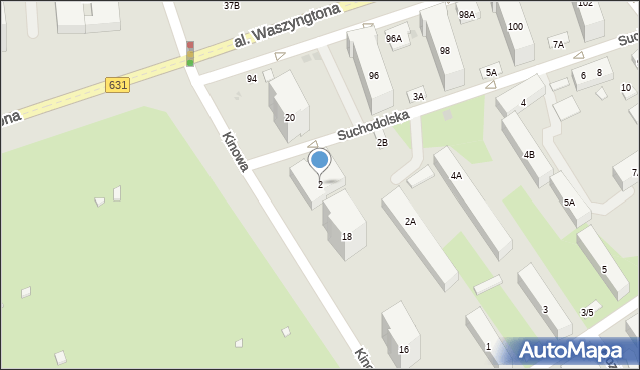 Warszawa, Suchodolska, 2, mapa Warszawy