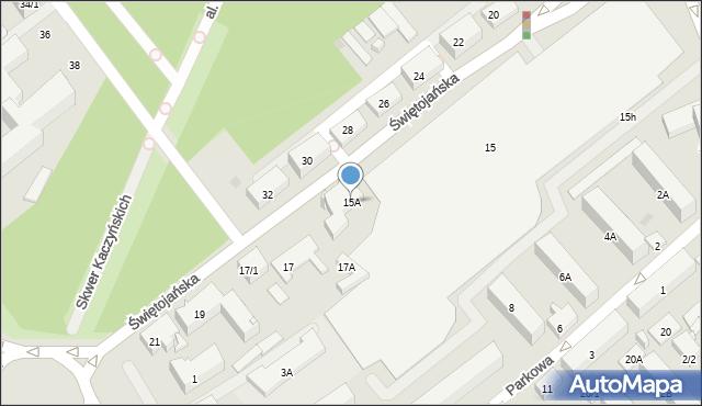 Białystok, Świętojańska, 15A, mapa Białegostoku
