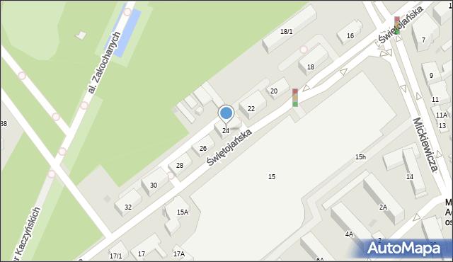 Białystok, Świętojańska, 24, mapa Białegostoku