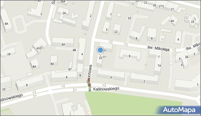 Białystok, św. Mikołaja, 11, mapa Białegostoku