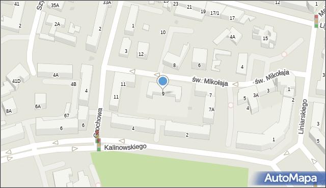 Białystok, św. Mikołaja, 9, mapa Białegostoku