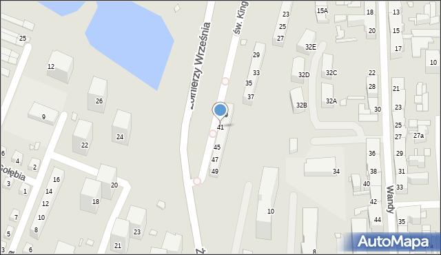 Chorzów, św. Kingi, 41, mapa Chorzów