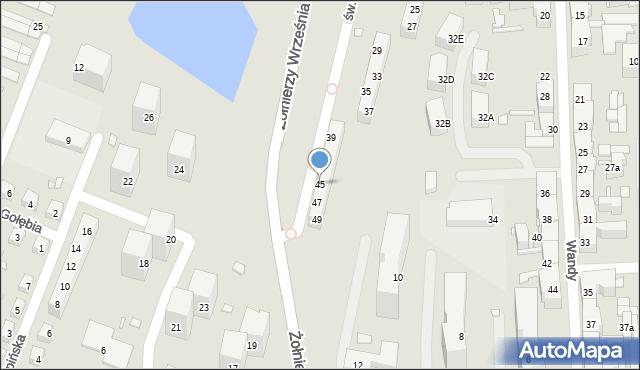 Chorzów, św. Kingi, 45, mapa Chorzów