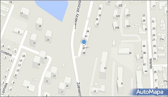 Chorzów, św. Kingi, 47, mapa Chorzów