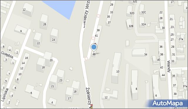 Chorzów, św. Kingi, 49, mapa Chorzów