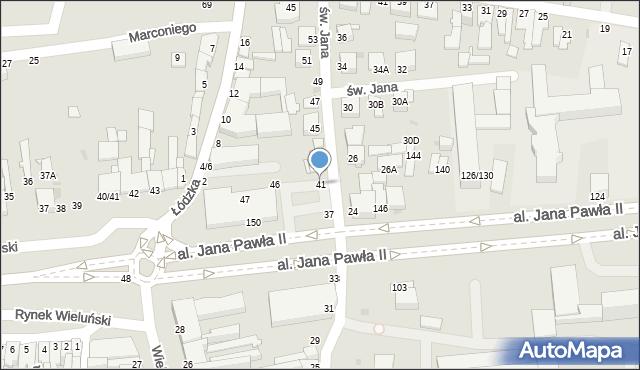 Częstochowa, św. Jana, 41, mapa Częstochowy