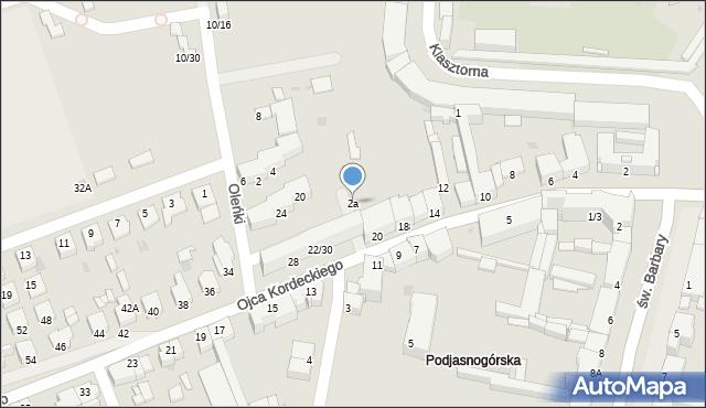 Częstochowa, św. Marioli, 2a, mapa Częstochowy