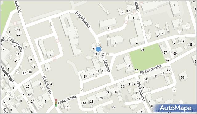 Dębica, św. Jadwigi, 2, mapa Dębicy
